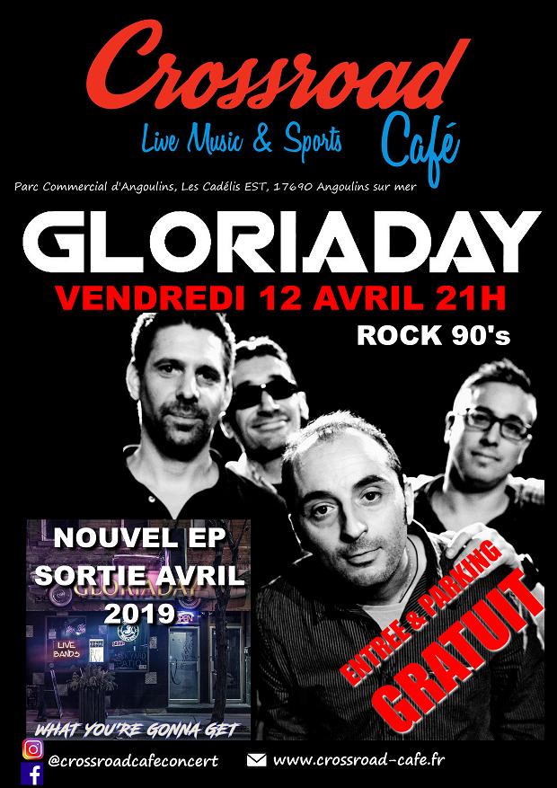 CONCERT : Gloriaday - Rock Alternatif/Pau - GRATUIT