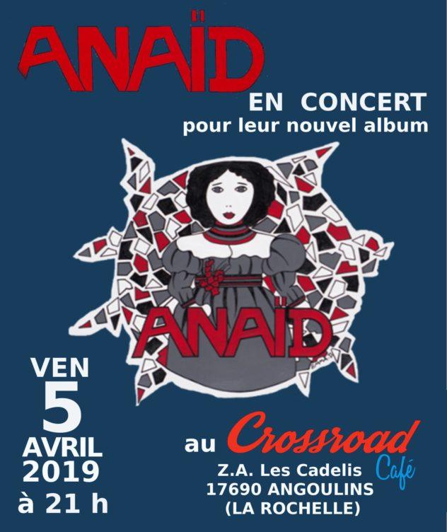 CONCERT : Anaïd - Progressif - Saintes - GRATUIT