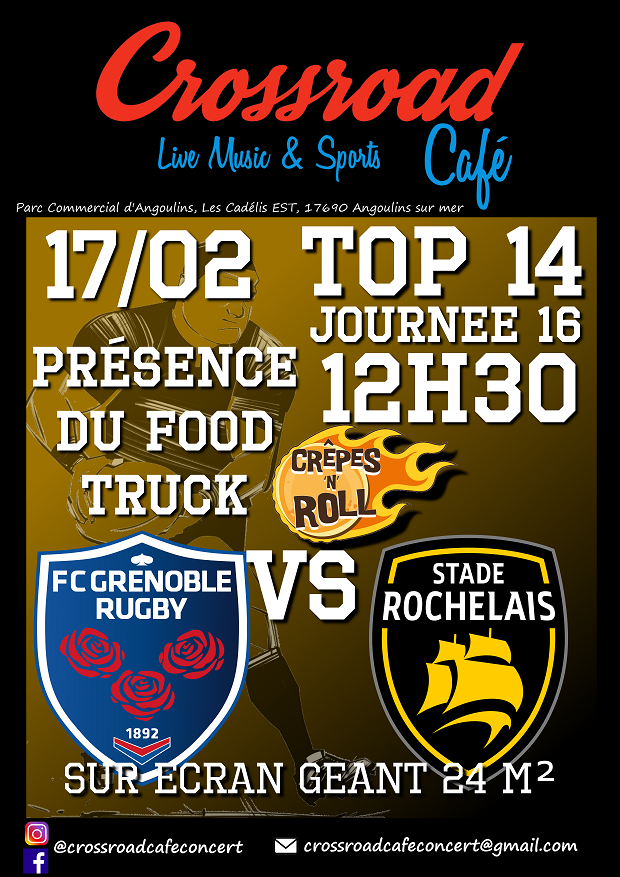 RUGBY TOP 14 Grenoble – La Rochelle