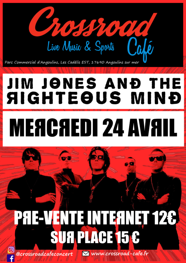 Concert : Jim Jones & The Righteous Mind