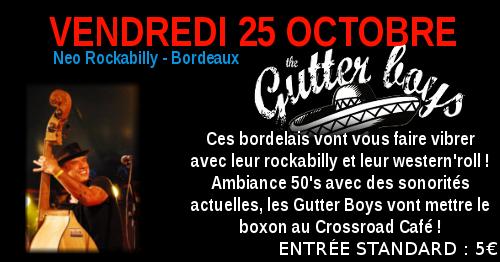 Gutter Boys : Live au Crossroad Café (Entrée Payante 5€)