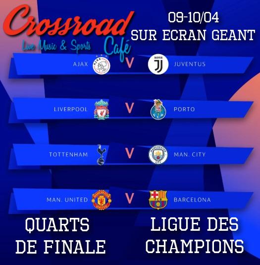 LIGUE DES CHAMPIONS 1/4 de finale
