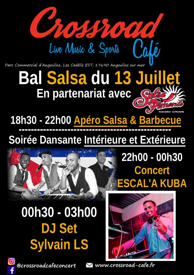 Bal Salsa du 13 Juillet avec Concert : Eskal'a Kuba