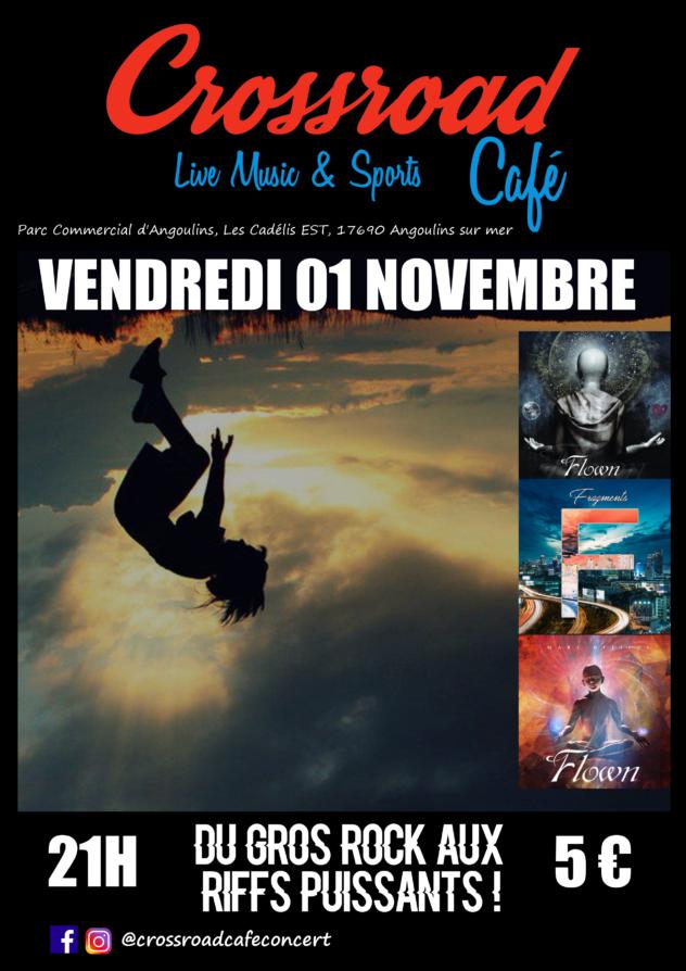 Flown : Live au Crossroad Café (entrée 5€)