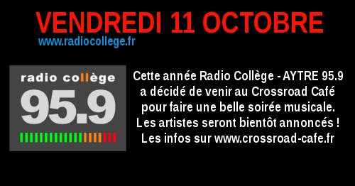 Soirée Radio Collège : Live au Crossroad Café