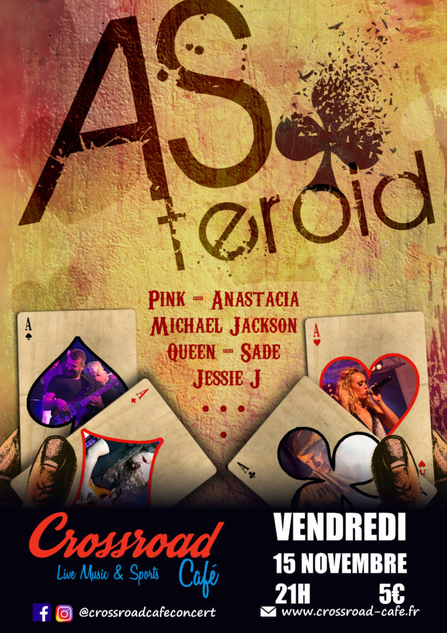 Asteroid : Live au Crossroad Café (Entrée 5 €)