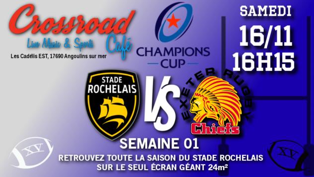 Champions Cup Journée 01 : La Rochelle - Exeter
