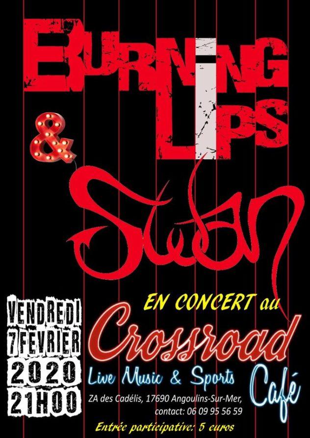 Burning Lips + Swan : Live au Crossroad Café (entrée 5€)
