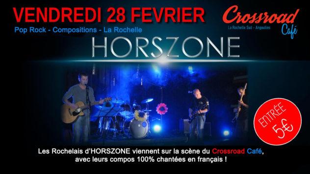 HORSZONE : Live au Crossroad Café (entrée 5€)