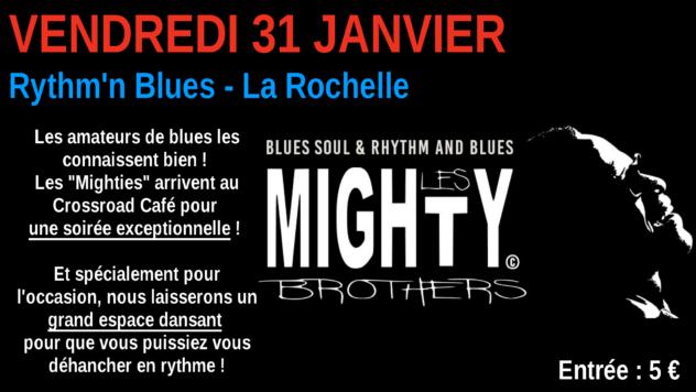 Les Mighty Brothers : Live au Crossroad Café (entrée 5 €)