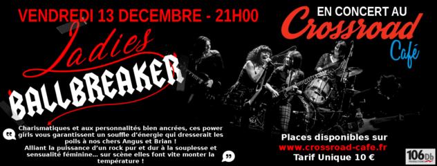 Ladies Ballbreaker : Live au Crossroad Café (10€)