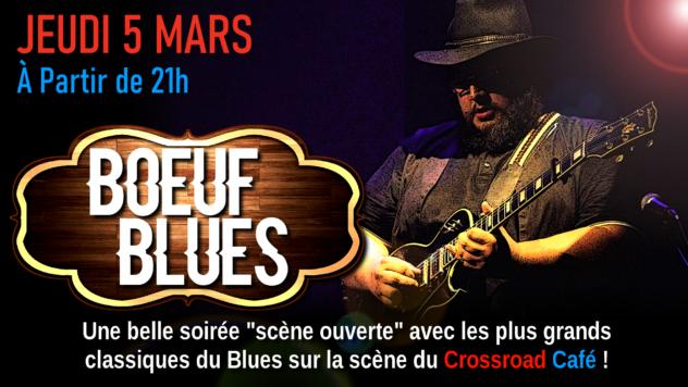 Boeuf de Blues avec Quentin Winter, Cyril Babin et Seb Jonckheere
