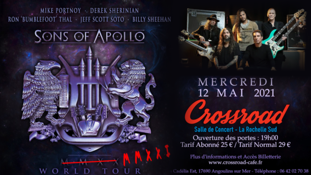ANNULE - SONS OF APOLLO - Live au Crossroad