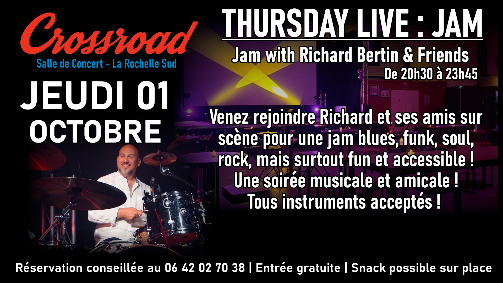 Thursday Live : JAM avec Richard Bertin & Friends