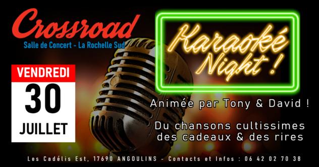 Soirée Karaoké Night ! Animée par Tony & David